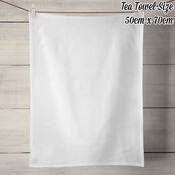 100% Linen Tea Towel - Off White